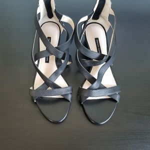 French Connection cage sandals